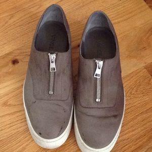 Vince gray slip on shoe
